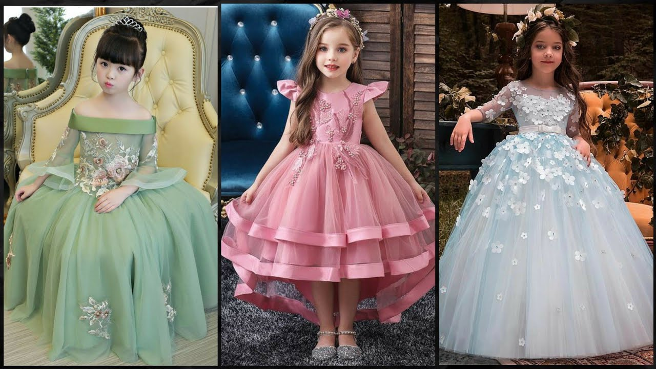 Party Wear Top Stylish Ball Gown Dress Designs Ideas For Kids / Princes  Style Birthday Dresses 7