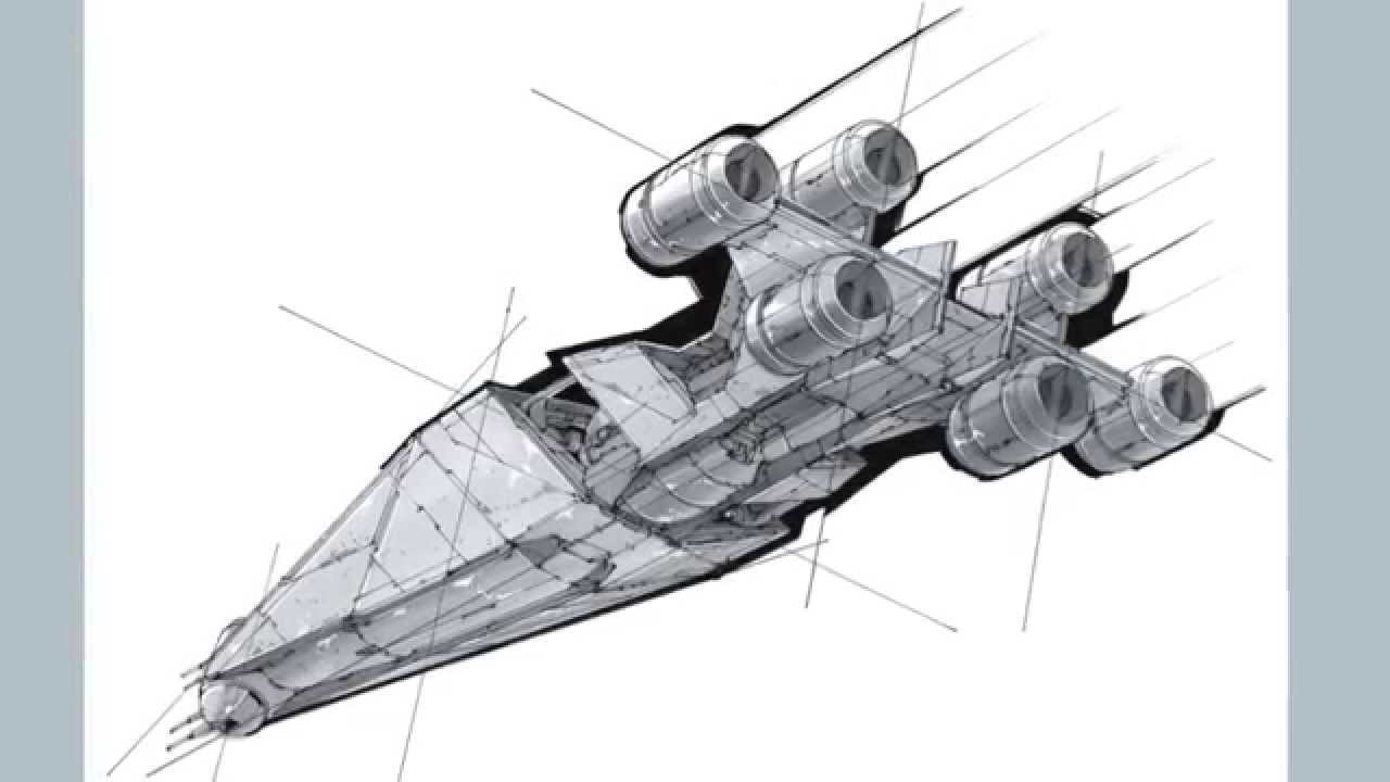 how to draw a spaceship youtube