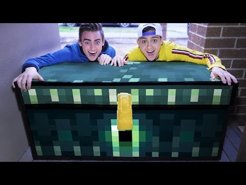 OPENING MINECRAFT ENDERCHEST IN REAL LIFE!!? ($100,000 OF STUFF!!??)