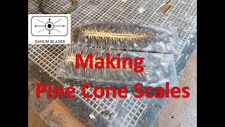 Making Resin Pine Cone Scales