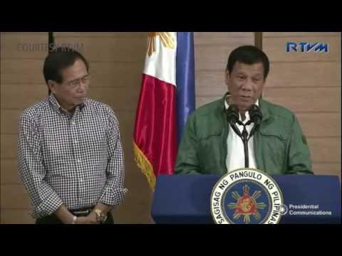 Pres. Duterte presents freed Norwegian captive