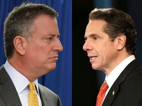 NYC Mayor Bill de Blasio vs. NY Governor Andrew Cuomo
