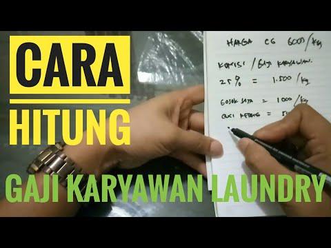 Cara Hitung Gaji Karyawan Laundry | Gaji Karyawan Laundry