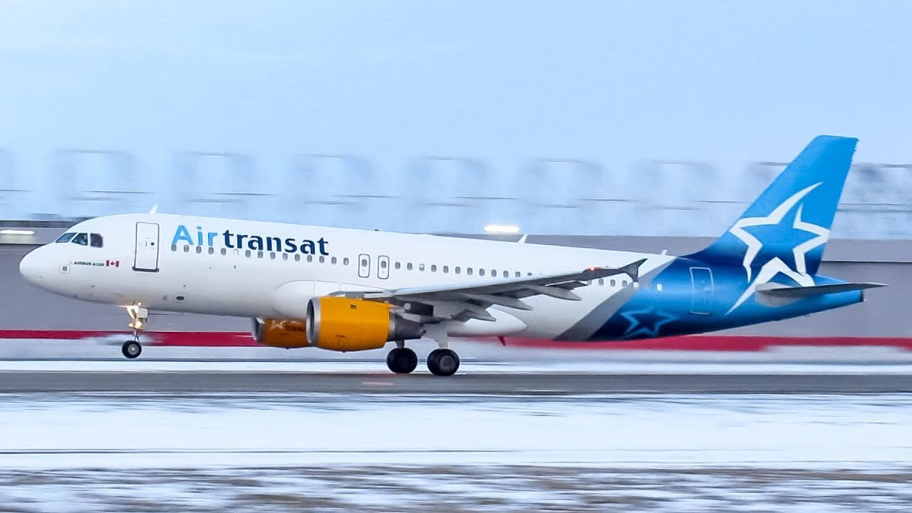 First Air Transat Airbus A320 Departing Landing For The Very First