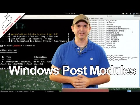 Windows Post Modules - Metasploit Minute