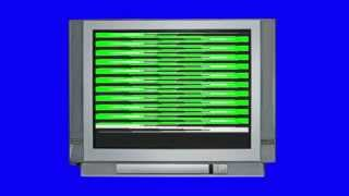 Old Damaged TV Green Screen Royalty Free Background Video Effect Footage AA VFX