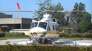 L.A.County Bell 412 Helicopter Take Off