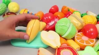 Нарезка продуктов на липучке. Развлекающие и развивающие видео обзоры детских игрушек