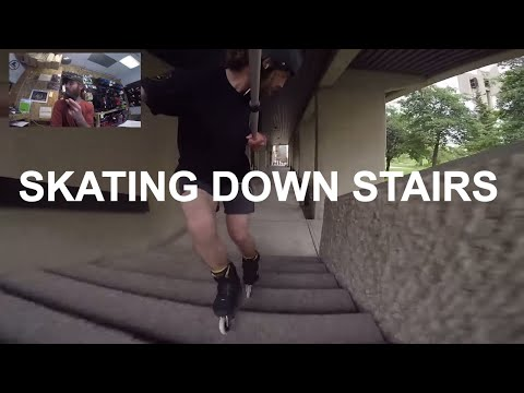 Inline Skating (Rollerblading) Down Stairs