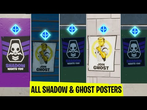 All SHADOW And GHOST Poster In Fortnite | Deadpool Week 6 Challenge Guide
