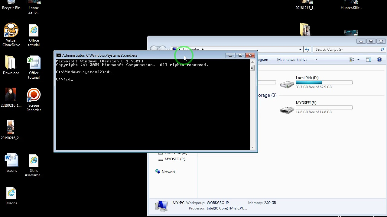 how to create large dummy file with cmd