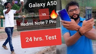 Full Day with my Samsung Galaxy A50 and Redmi Note 7 | Who Won