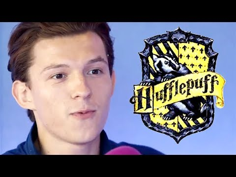 tom holland being a hufflepuff for 4 minutes straight
