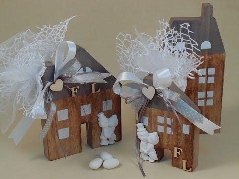 Bomboniera matrimonio fai da te con casette legno for Cucina giocattolo fai da te