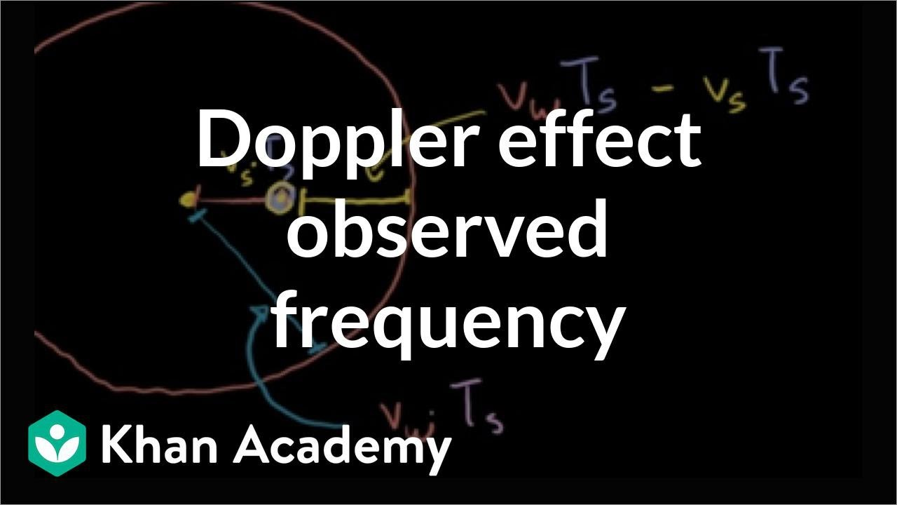 Doppler effect formula for observed frequency | Physics | Khan Academy