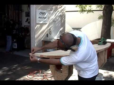 Shaping Wood Surfboard