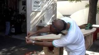 Shaping Wood Surfboard