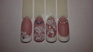 Свадебный дизайн ногтей к 14 февраля. Типсы с Алиэкспресс