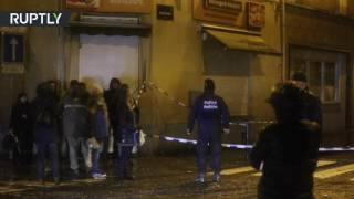 Belgium Police's special units launch anti terror raid in Molenbeek district, Brussels