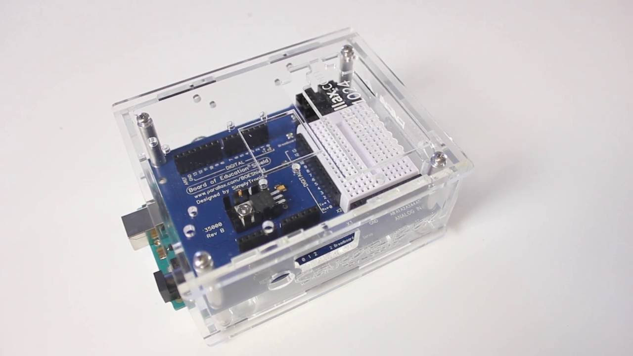 Sensor box and the board of education shield for arduino