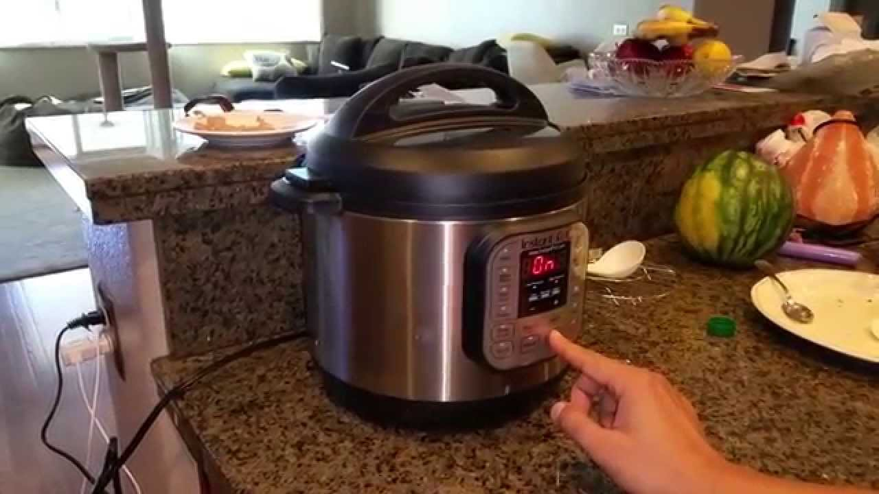 Using a pressure cooker for the first time