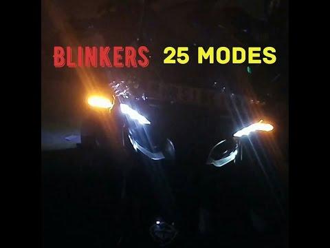 Blinkers hazard light PulsarRS200 25 modes led