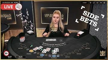 ♣️ Blackjack Platinum | Live VIP table | Side Bets session ♣️