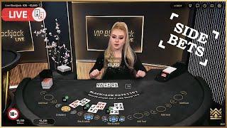♣️ Blackjack Platinum | Lİve VIP table | Side Bets session ♣️