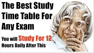 The Best Time Table For Studies | You will Study At least for 12 Hours In a Day thumbnail