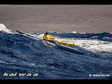 Epic Maui to Lanai downwind outrigger surfing