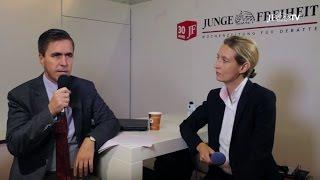 Alice Weidel zur Zukunft des europäischen Wirtschaftsraums (JF-TV Direkt)