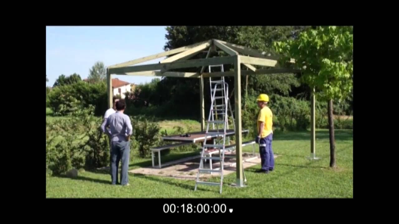 Costruire un gazebo in legno in 18 minuti youtube for Costruire un gazebo in ferro