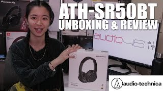 New Audio-Technica SR50BT w Bluetooth and Noise Cancelling - Unboxing & Review