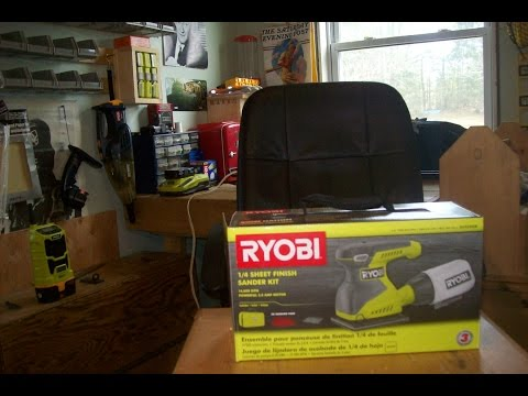 Codgers Workshop Episode 5: Ryobi  2 amp 14 sheet Palm Sander unboxing