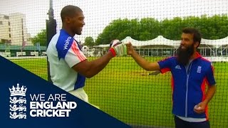 Moeen Ali Meets Anthony Joshua - We Are England Cricket