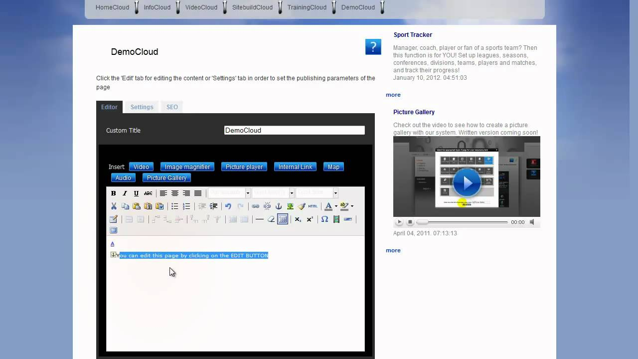 How to Edit Content: Using the TinyMCE and the File Manager