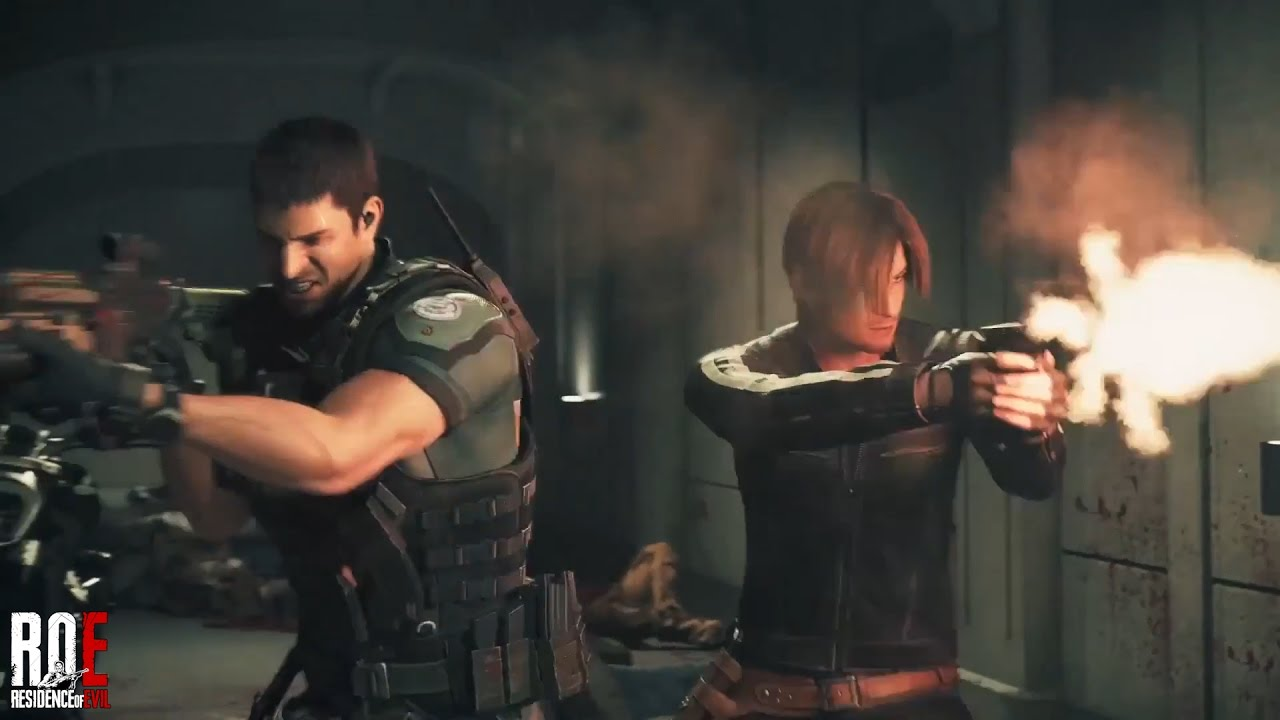 Resident Evil Vendetta 2017 Leon Chris Action Scene Hd Youtube