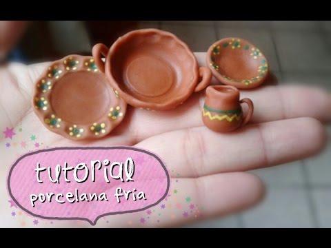 Imitacion trastecitos de barro porcelana fria tuto youtube - Jarrones de ceramica ...