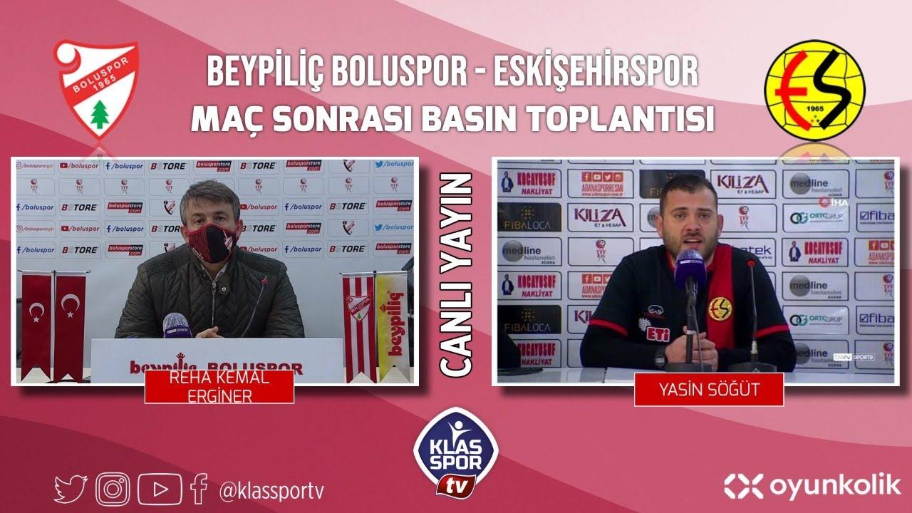 Boluspor - Eskişehirspor Basın Toplantısı ᴴᴰ (CANLI)