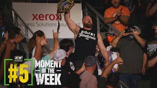 Did Moxley Walk Out IWGP US Champion in His Return to the Ring?   AEW Fyter Fest Night 1, 7/14/21