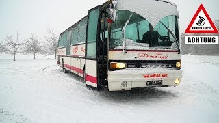 Busfahren im Schnee - Innenausbau vom Bus  | Dumm Tüch