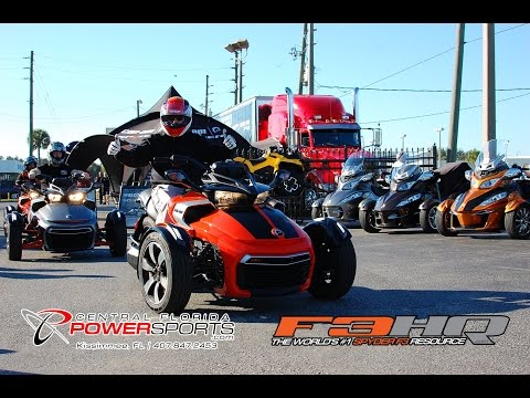 2015 Can-Am Spyder F3 - Ride Reviews and First Impressions