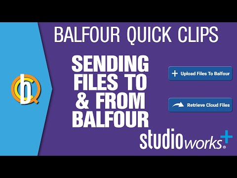Sending Files to and Receiving Files From Studio.Balfour.com