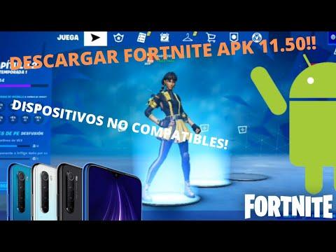 DESCARGAR FORTNITE 2| 11.50 ANDROID|DISPOSITIVOS NO COMPATIBLES| EXPLICADO 100%