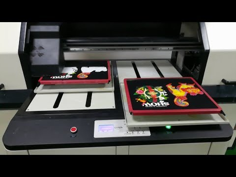 Double Plates T-shirt Printer Machine, DTG Printer With High Speed