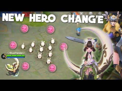 NEW HERO CHANG'E Gameplay! + FREYA REWORK Mobile Legends