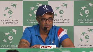 Tennis - Coupe Davis : Noah «Ça aurait été chaud pour ma gueule»