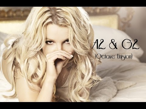 Britney Spears : A2 & G2 In Octave Unision!