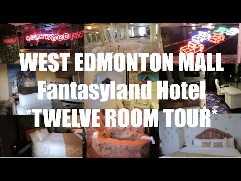 TWELVE ROOM TOUR Of The Fantasyland Hotel In West Edmonton Mall