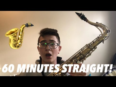 PLAYING 1 NOTE ON MY SAXOPHONE FOR 60 MINUTES STRAIGHT!